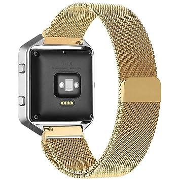 smarmate 23 mm Milanese Loop Reloj Banda Correa de pulsera de acero inoxidable con imán cerradura