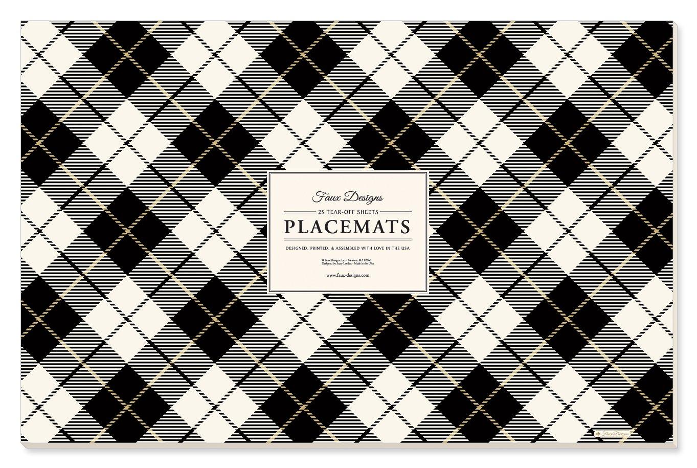 Faux Designs Paper Placemats - Plaid