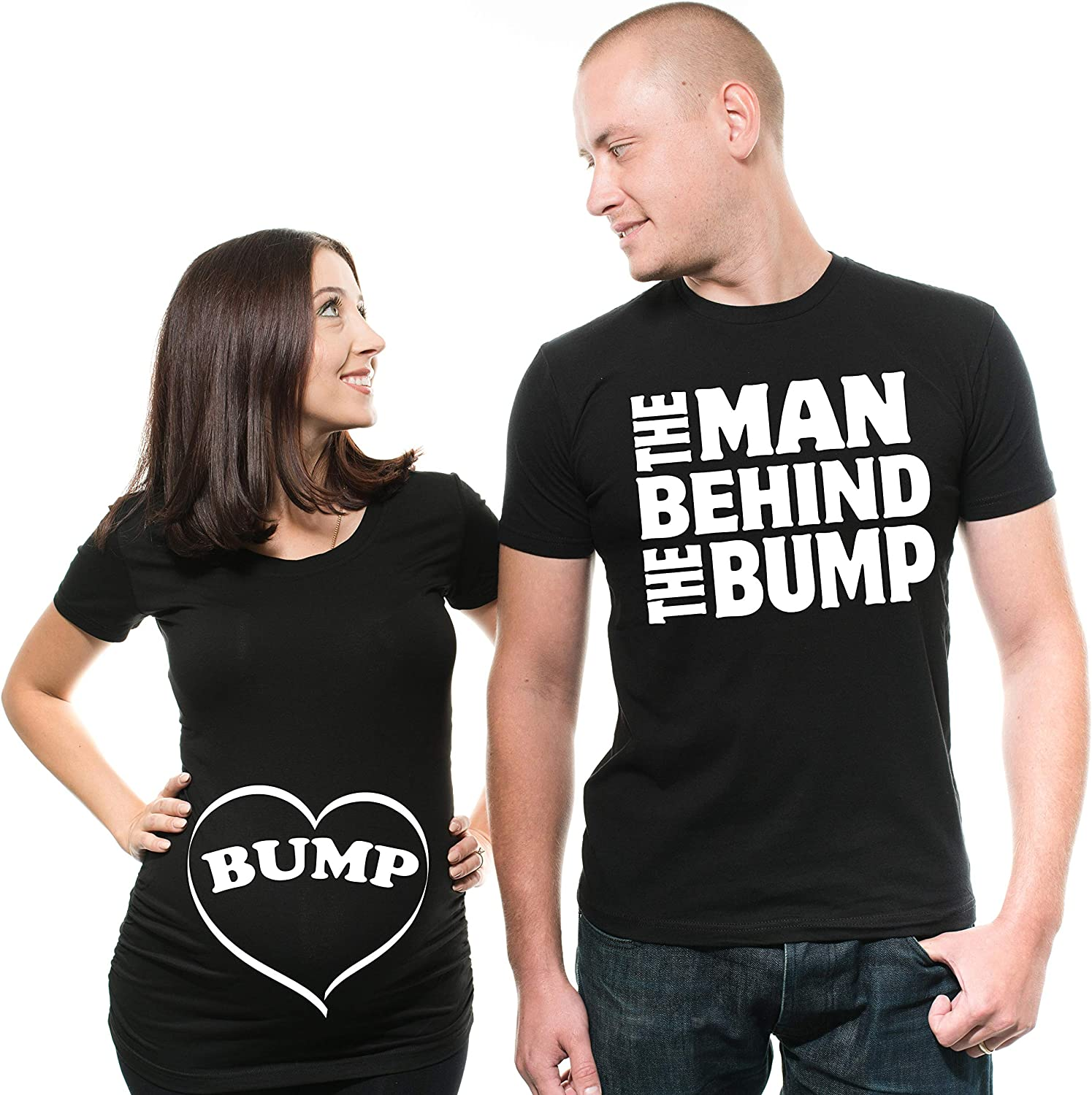 Couple Shirts Funny Couple Maternity Matching Tees Baby Shower Shirts At Amazon Women S Clothing Store