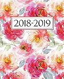 Agenda settimanale 2018-2019: Anno scolastico agenda dello studente, docente, prefessore, e insegnante: 19x23cm: Agenda 2018-2019 settimanale italiano: Motivo floreale 4404