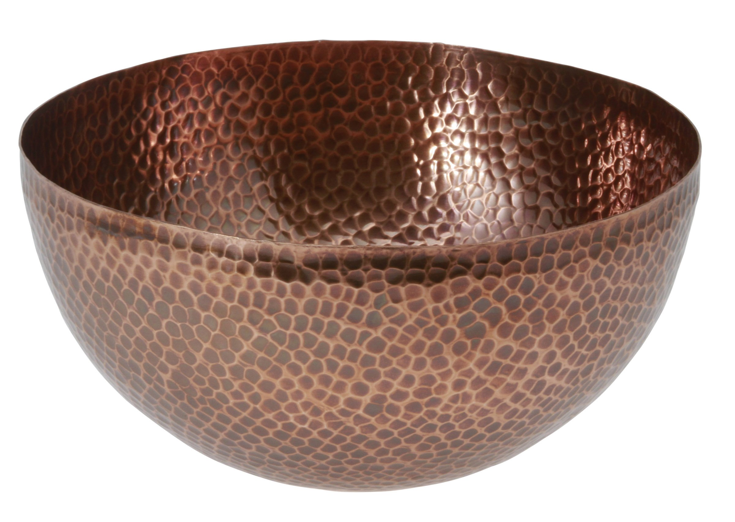 Thirstystone Urban Farm Medium Round Hammered Antique Bowl, Copper