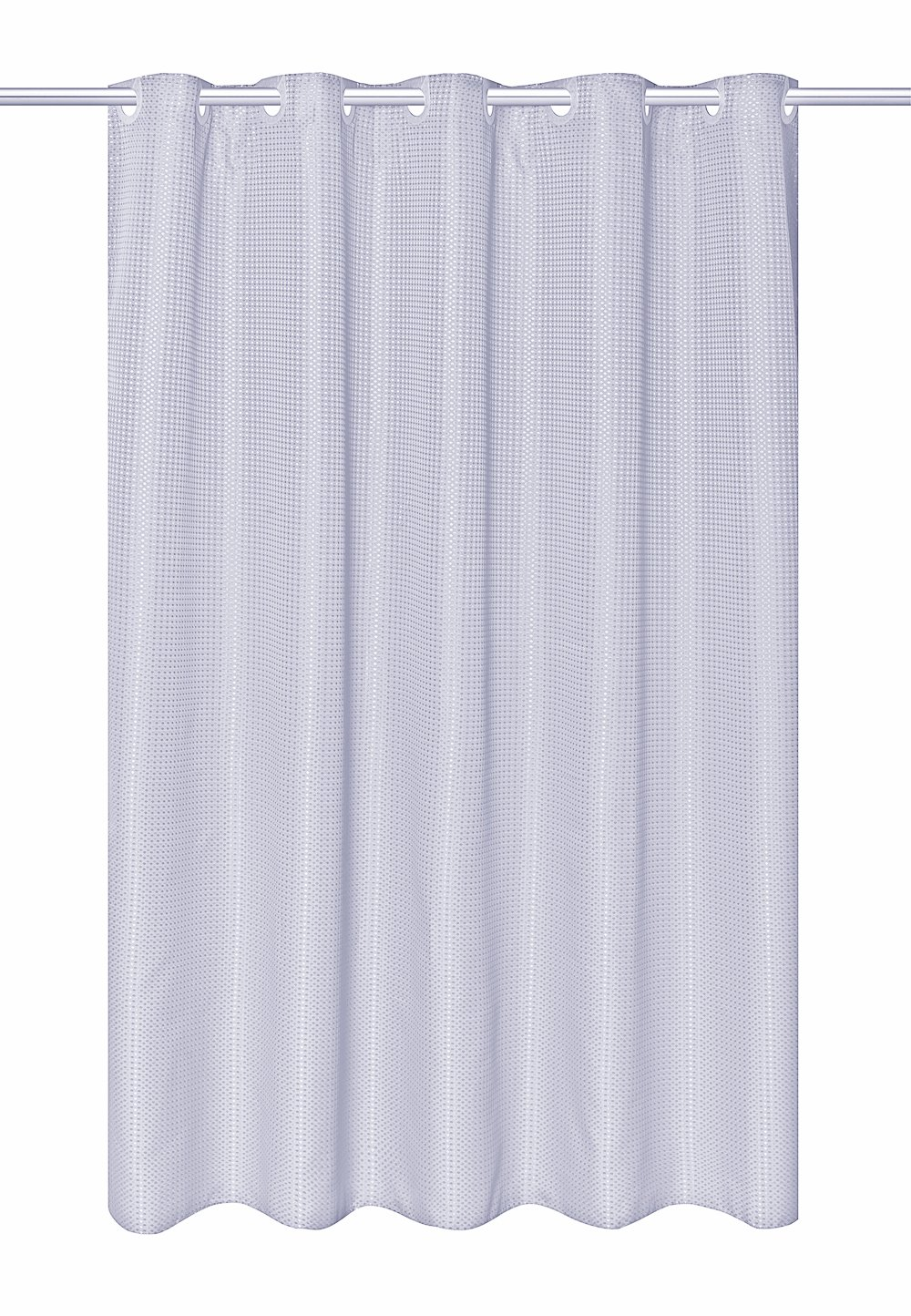 Hookless fabric shower curtain with built in liner taupe diamond pique - Amazon Com Hookless Ez On Waffle Weave Fabric Shower Curtain With Snap In Fabric Liner 75 Inch Long White Home Kitchen