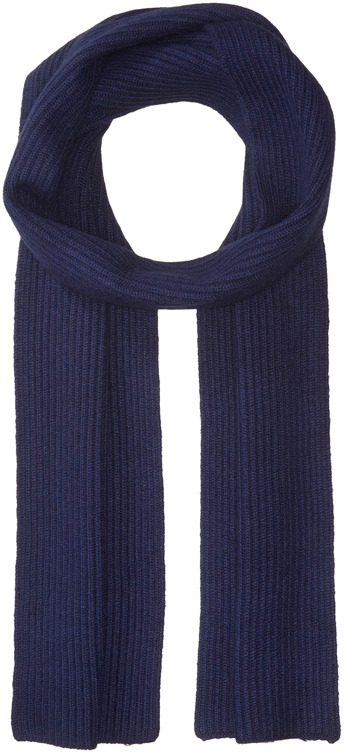 Williams Cashmere Men's Cashmere Rib Knit Scarf, mid navy ONE