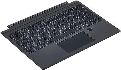 Surface pro cover per portatile nero layout tastiera