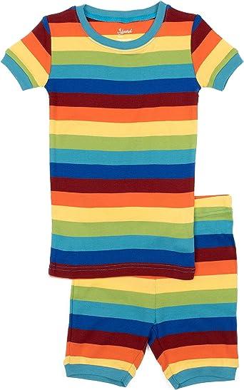 Toddler-14 Years Leveret Striped Kids /& Toddler Boys Pajamas 2 Piece Pjs Set 100/% Cotton Sleepwear