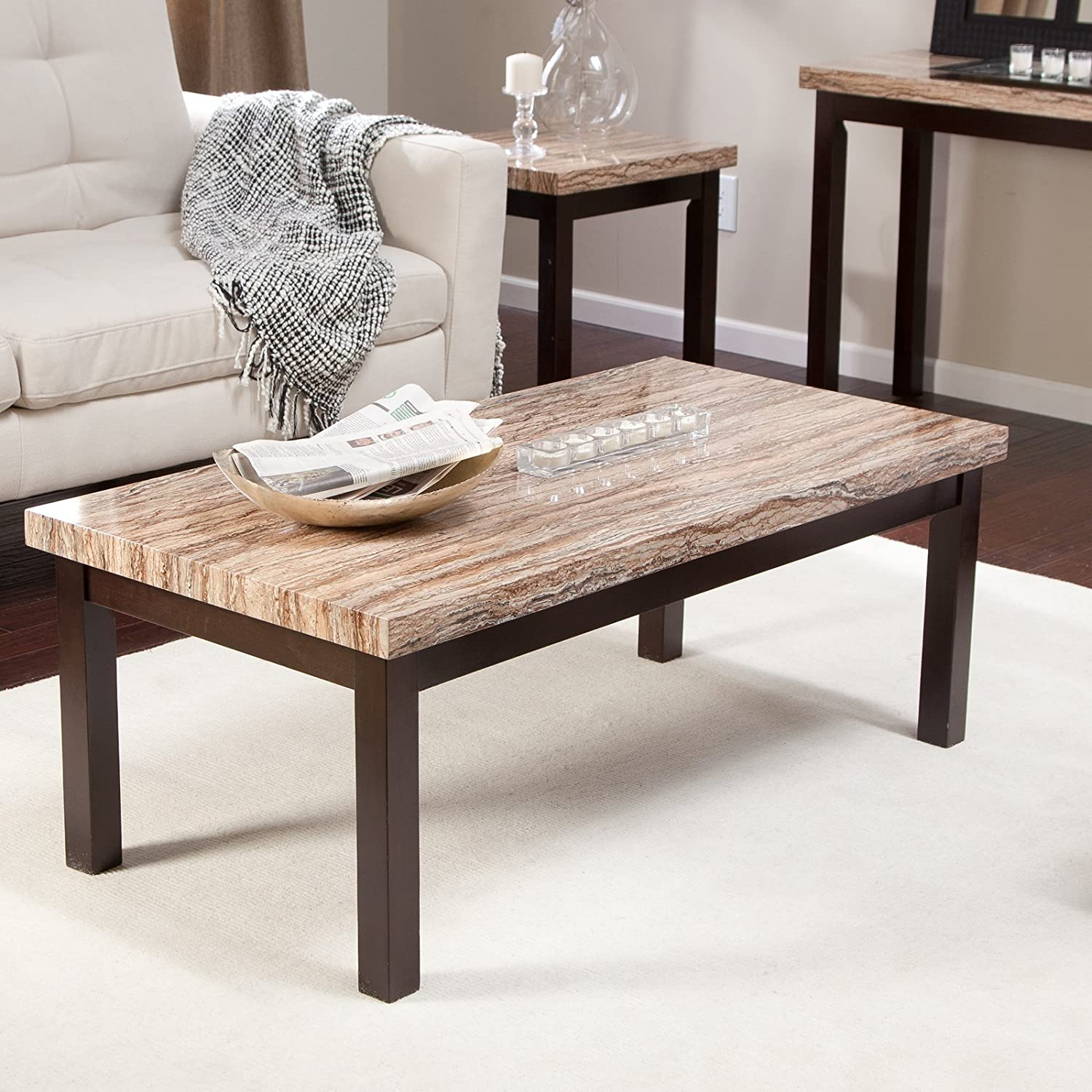Amazon Carmine Faux Marble Coffee Table Kitchen & Dining