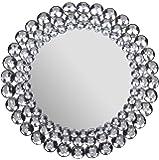 "Patton Wall Decor Round Jeweled Accent Mirror, 17"" x 17"""