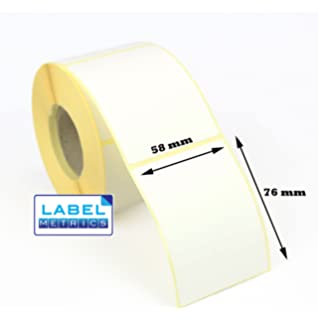 Perm Adhesive 52mm x 38mm 1,000 Roll Gloss White Polypropylene labels
