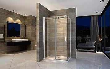 Cabina de ducha, 160 x 90 cm, esquina, mampara de ducha, puerta ...