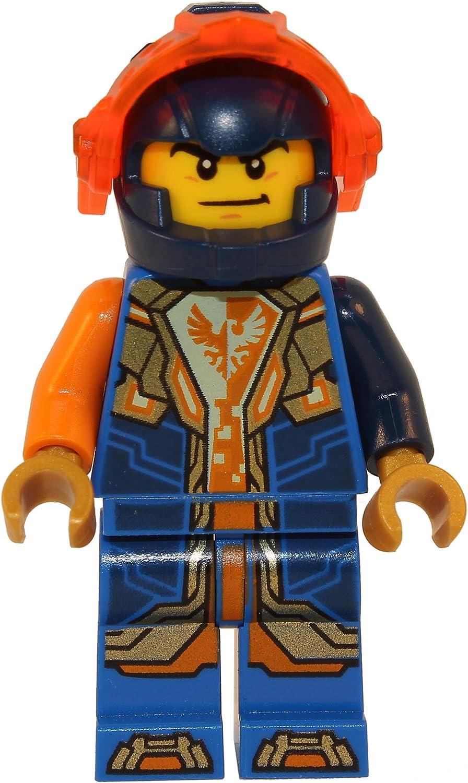 LEGO Nexo Knights: Clay with Helmet, Trans-Orange Visor, Gold Hands Minifigure