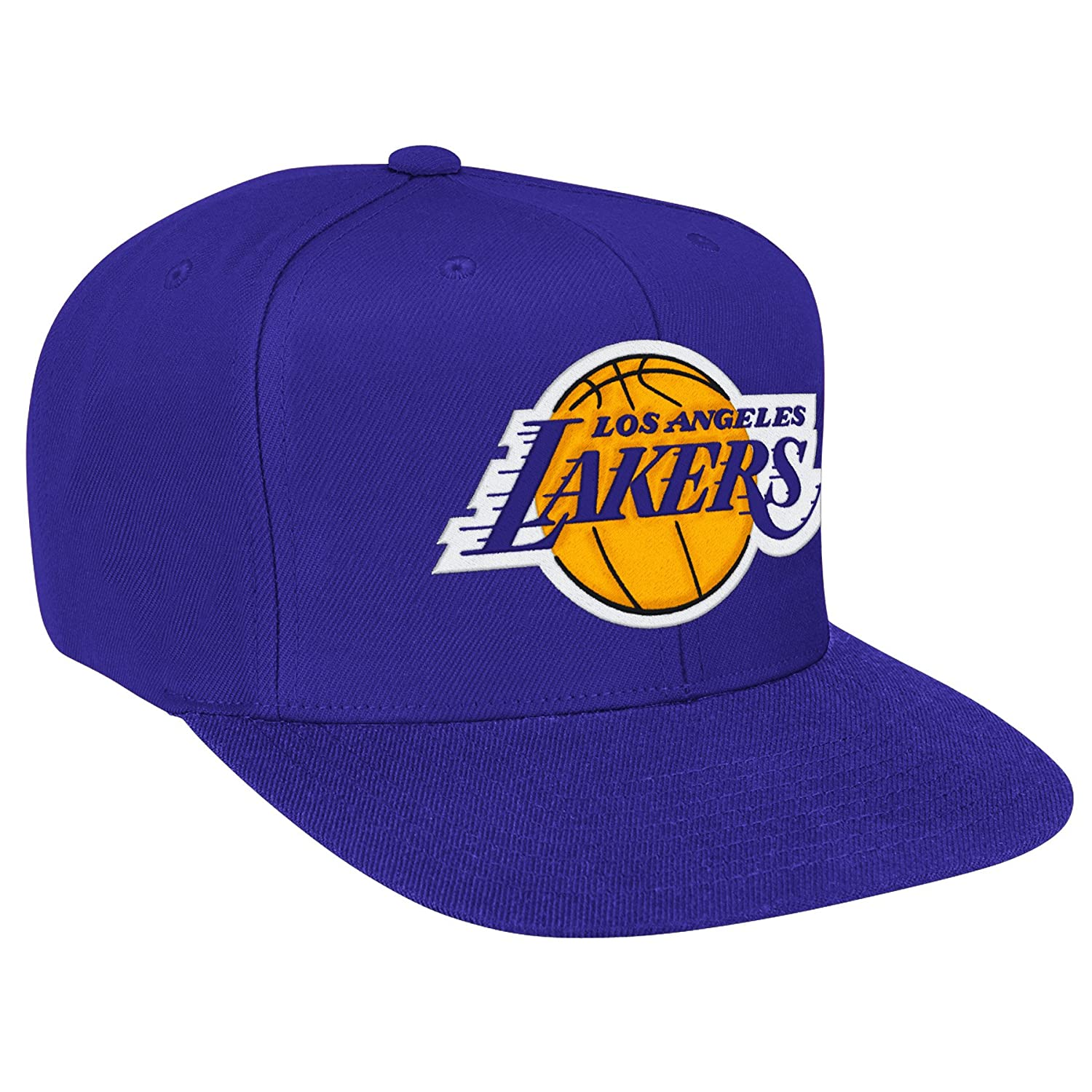Mitchell /& Ness Los Angeles Lakers NBA Wool Solid Adjustable Snapback Hat