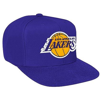 Los Angeles Lakers NBA Mitchell   Ness Wool Solid Adjustable Snapback Hat  (Purple) 80d7b133474d