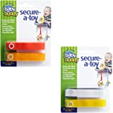 Baby Buddy Secure-A-Toy, Safety Strap Secures Toys, Teether, or Pacifiers to Strollers, Highchairs, Car Seats-Adjustable…