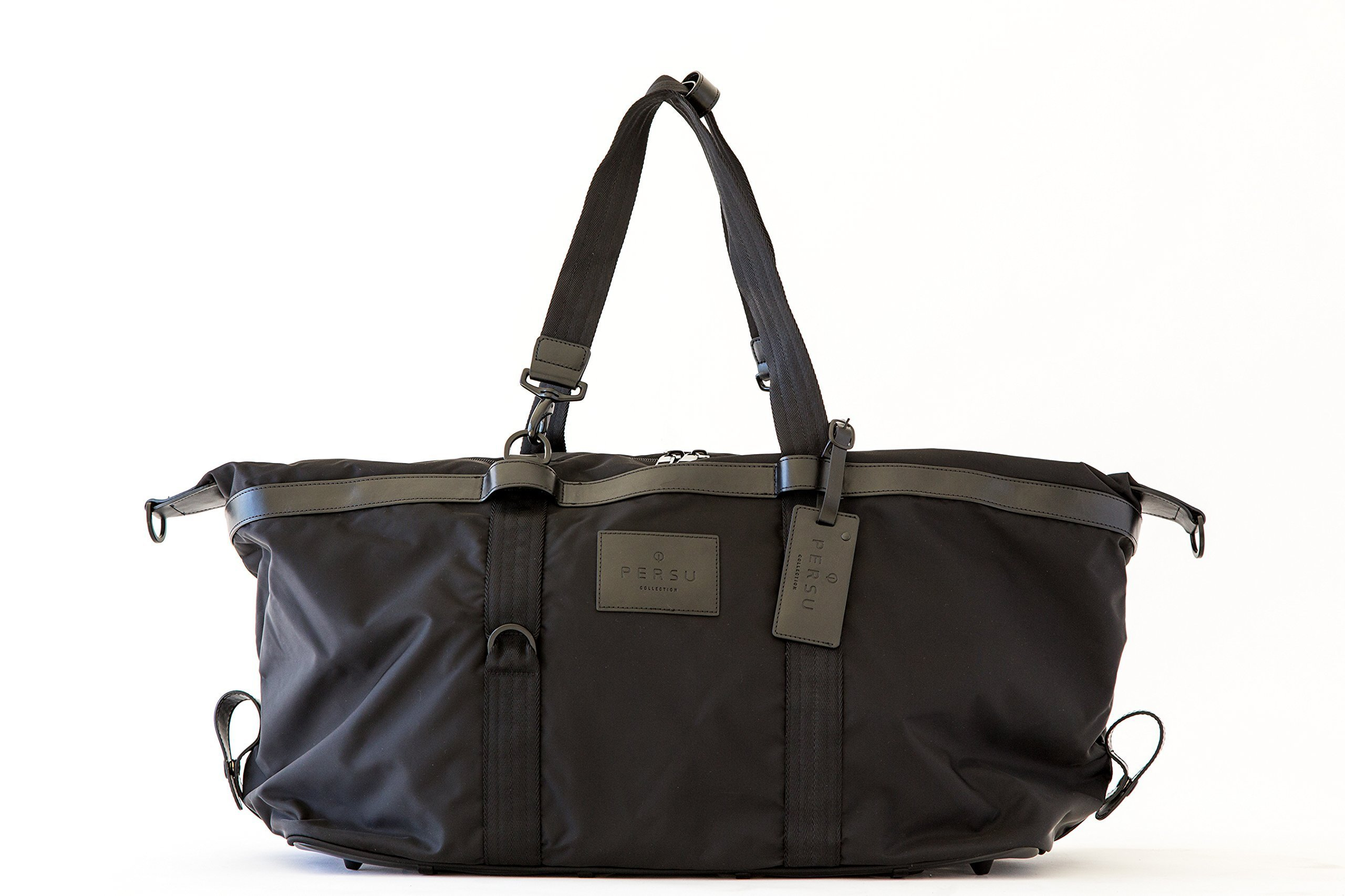 PERSU COLLECTION Men's/Unisex Gym and Weekender Bag - Black by PERSU COLLECTION