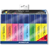 Staedtler - Textsurfer Classic 364 - Pochette 8 Surligneurs Pointe Biseau 1 à 5 mm Assortis