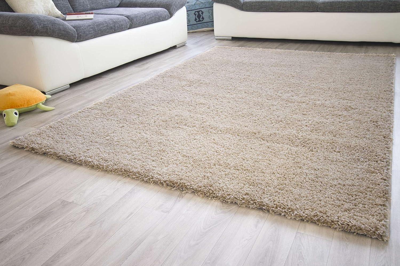 Hochflor Teppich Brilliance Shaggy in Sand mit ÖkoTex 100 Siegel, Größe  200x290 cm