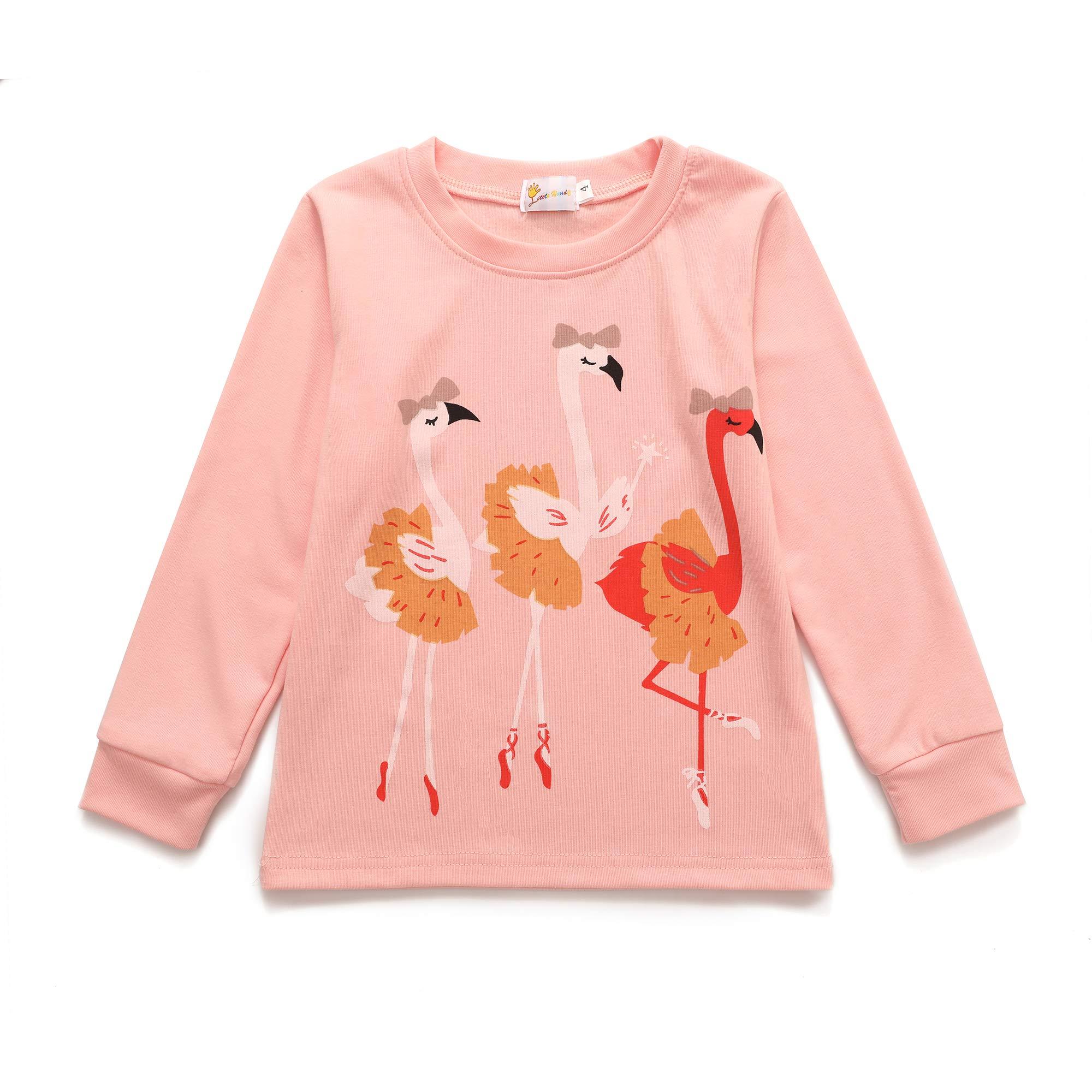 Dhasiue Kids & Toddler Pajamas Girls Little Kids PJS Sets 100% Cotton Sleepwear for Age 2-8 Years