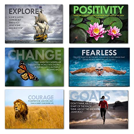 Tallenge - Motivational Quotes - Set of 6 Fridge Magnets for Home Decor (Size - 4 inches x 6 inches Each) Magnets (Home & Kitchen) at amazon