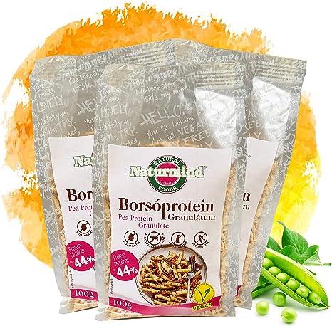Proteína de guisante granulada / texturizada / para vegetarianos / veganos / para salsa boloñesa, chili non carne, hamburguesa, hacktätschli y mucho ...