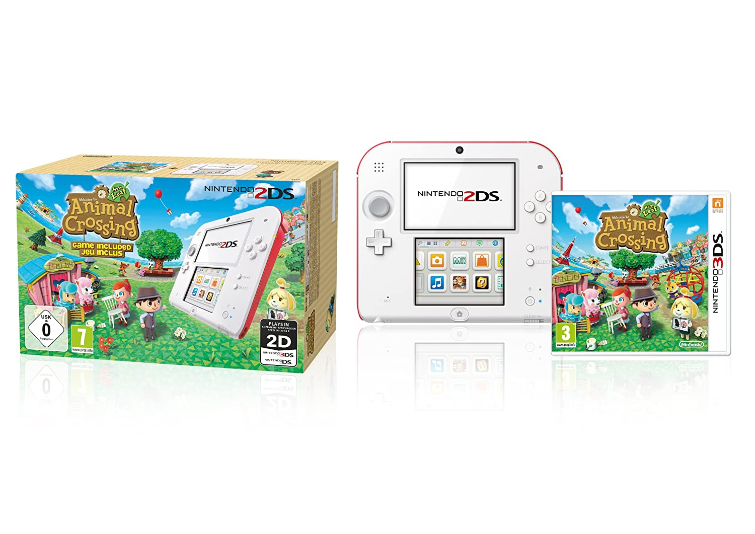 Nintendo 2Ds (Weiß+Rot) Inklusive Animal Crossing (Limited Edition ...