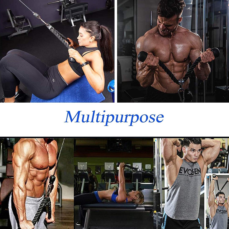 CMYKZONE 6 Pcs Triceps Training Rope Set Multifunctional Gym Triceps Training Rope With Multifunctional Handle /& Stainless Steel Carabiner Multifunctional Strength Training Set