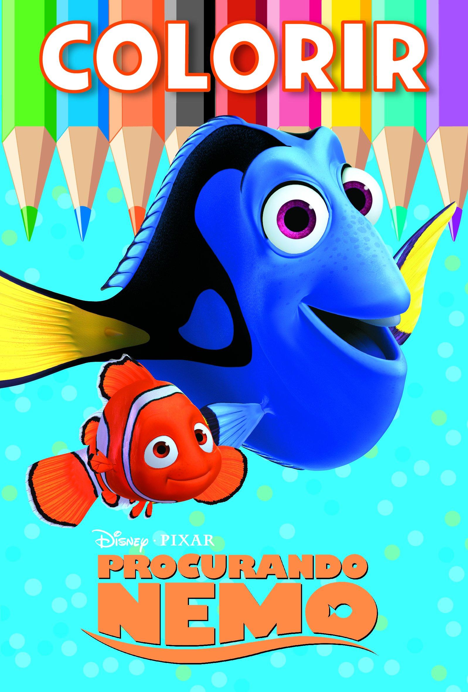 Procurando Nemo Colecao Disney Colorir Medio Livros Na Amazon