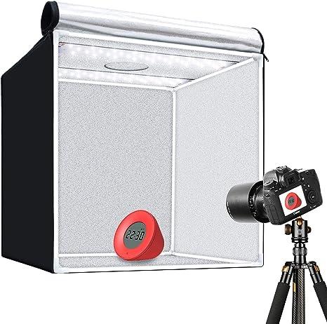 GVM Caja de luz portátil para Fotos, 40 x 40 cm, Estudio ...