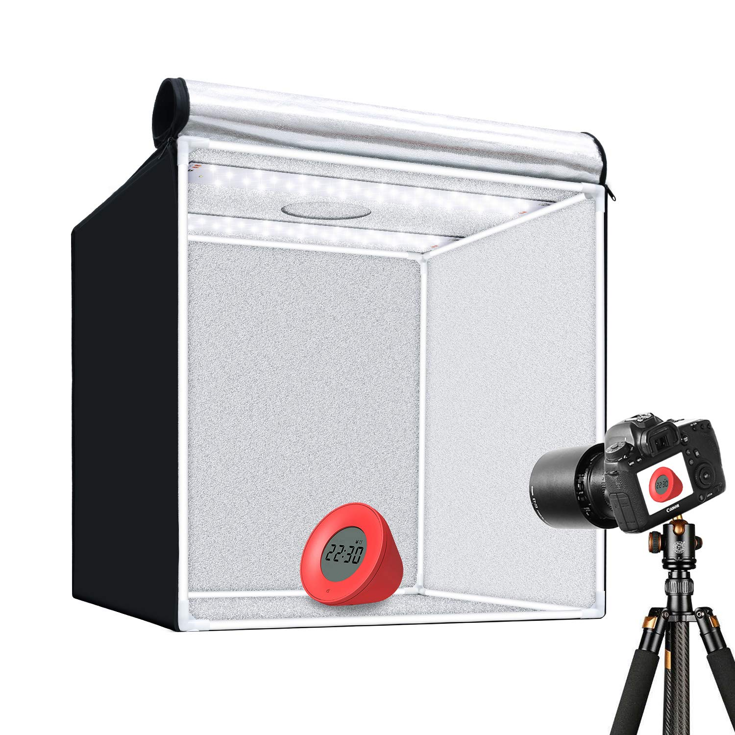 GVM Portable Photo Light Box, 24x24 inch/60x60 cm, Professional Photo Studio with LED Light, Foldable and Easy Set up Table Top Photo Lighting Studio, Photo Studio Kit for Photography by GVM (Image #1)