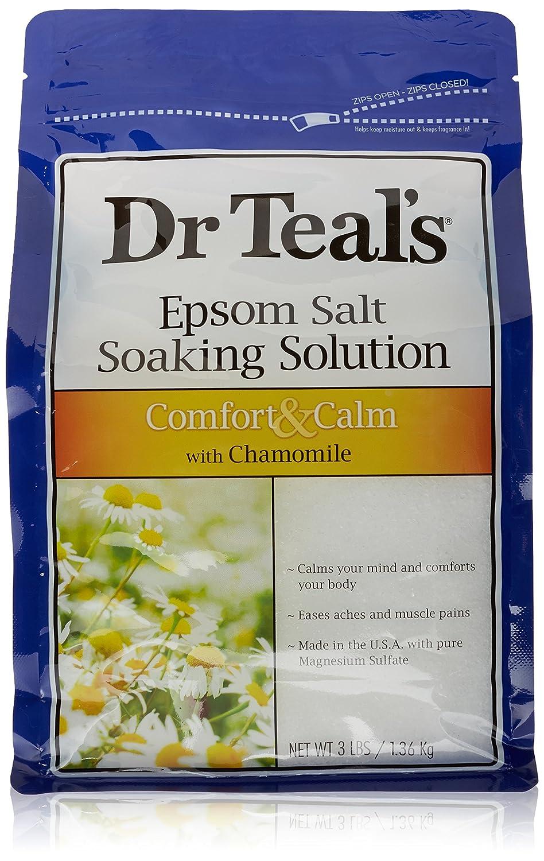 Dr. Teal's Epsom Salt Soaking Solution, Chamomile, 48 Ounce Dr. Teal' s 04012-4PK