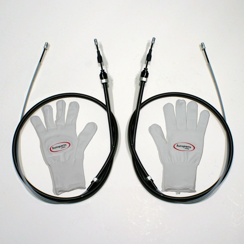 Autoparts-Online Set 60003270 2 x Handbremsseile/Bremsseile fü r Hinten