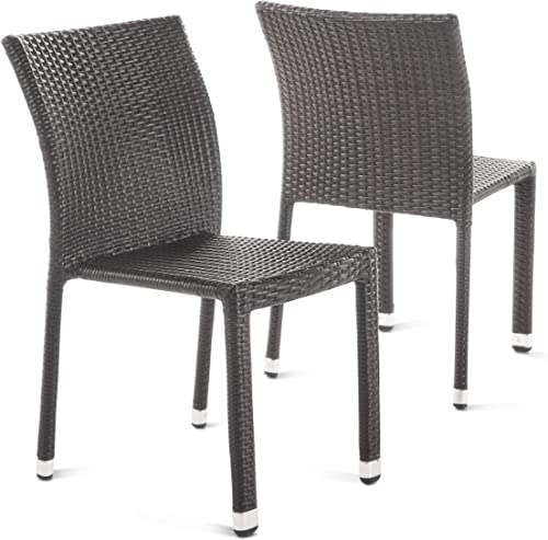 Christopher Knight Home Dover Outdoor Wicker Armless Stacking Chairs