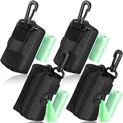 Pouch Attaches to Lead Dog Bag Leather Doggy Bag Holder