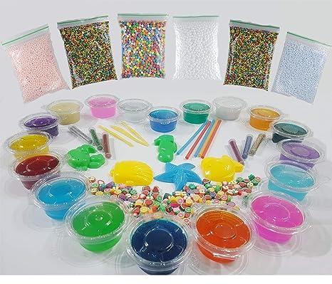 8d73cd751 DIY Crystal Slime - 18 Slime Colors DIY Fluffy Ultimate Slime Kit for Kids,  Crystal
