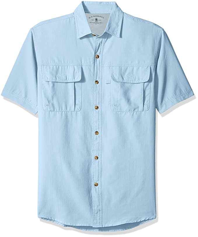 eb9078826ff Men's Explorer Short Sleeve Button Down Fishing Shirt at Amazon Men's  Clothing store:
