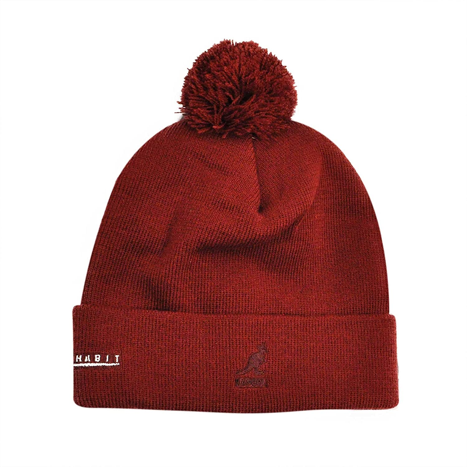 1d968bbc683 Kangol Bad Habit Beanie Mens Bobble Beanie Hat with Envelope - Red - One  size  Amazon.co.uk  Clothing