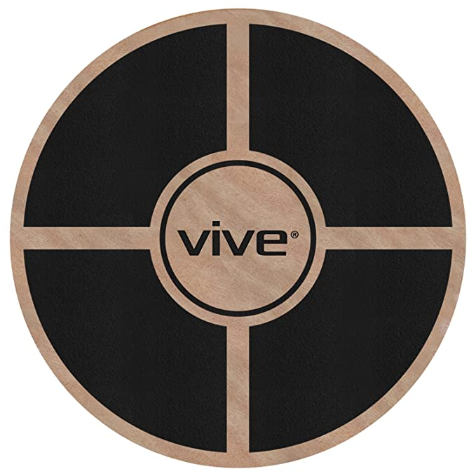 VIVE Balance Board by Wooden Self Balancing Wobble Platform - Wood Twist Trainer for Fit Abs, Arms, Legs, Core Tone, Surf, Skateboard, Gymnastics, Ballet, Exercise, Physical Therapy, and Kids