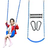 """Swing Seat Heavy Duty 66"""" Chain Plastic Coated - Playground Swing Set Accessories Blue"""