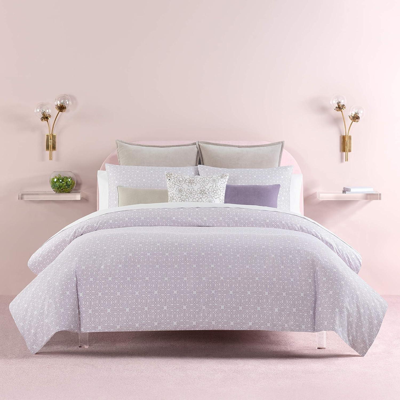 Kate Spade New York Breeze Blocks Comforter Set Twin XLong Bedding, Lavender