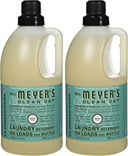 product image for Mrs. Meyer's Clean Day Laundry Detergent, Basil, 64 oz, 64 loads-2 pk