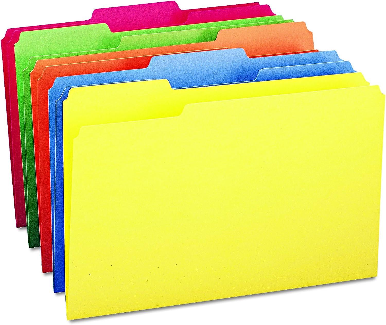 Smead File Folder, 1/3-Cut Tab, Legal Size, Assorted Colors, 100 per Box (16943)