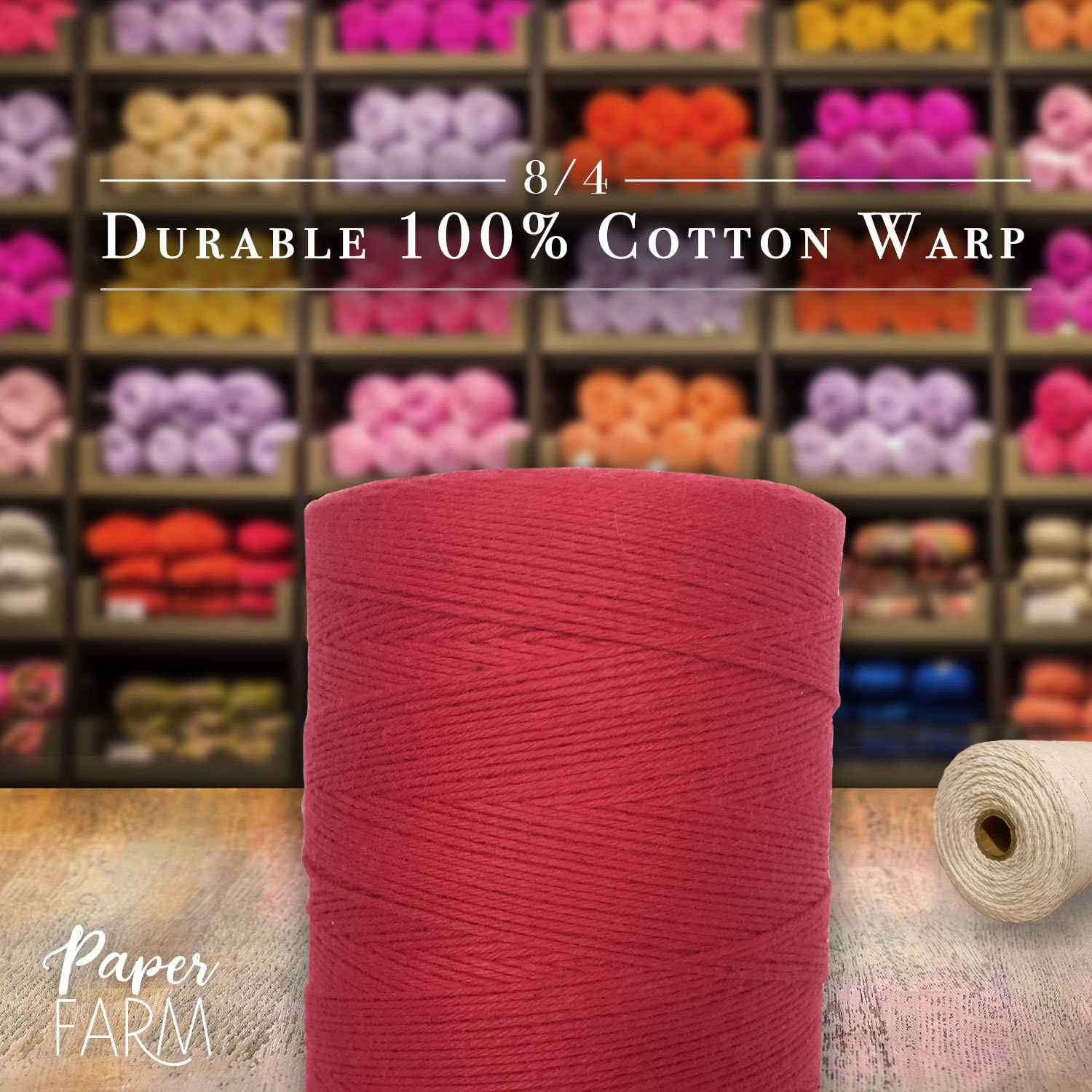 Warping Thread for Any Loom Rug Green 8//4 Warp Yarn 800 Yards Perfect for Weaving: Carpet Blanket or Pattern Tapestry 100/% Cotton Loom Warp Thread
