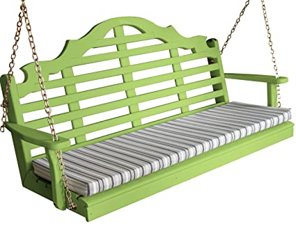 Enjoyable Amazon Com Wood Porch Swing Amish Outdoor Hanging Porch Alphanode Cool Chair Designs And Ideas Alphanodeonline