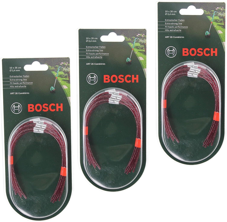 10 fils Bosch extra fort fil pour débroussailleuse art 26 Combitrim 26 CM