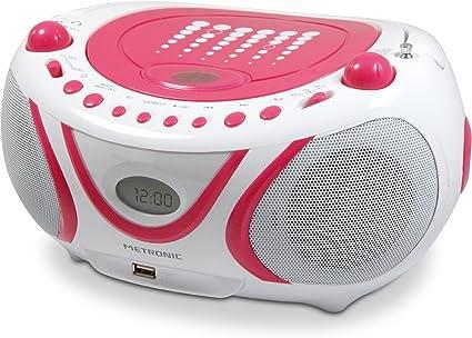Lecteur CD Pop Bluetooth MP3 avec port USB, FM, bluetooth