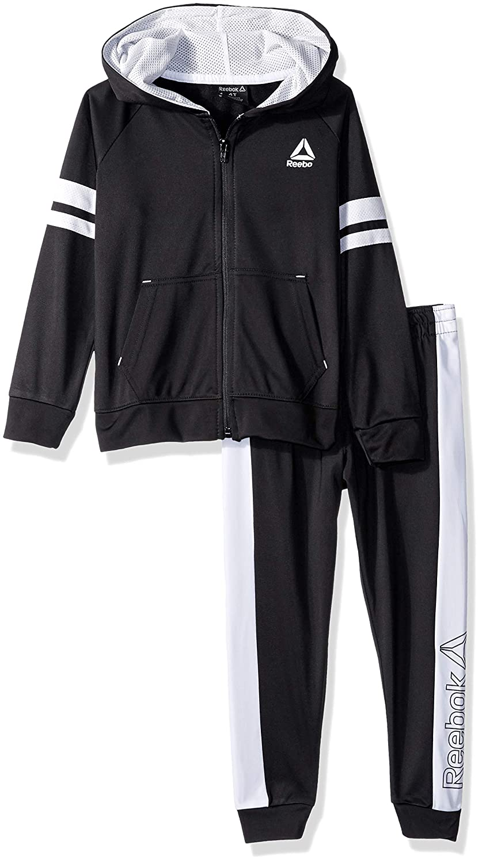 Reebok Boys' Toddler Lifestyle Tricot Hooded Jacket and Jog Pant B_2374