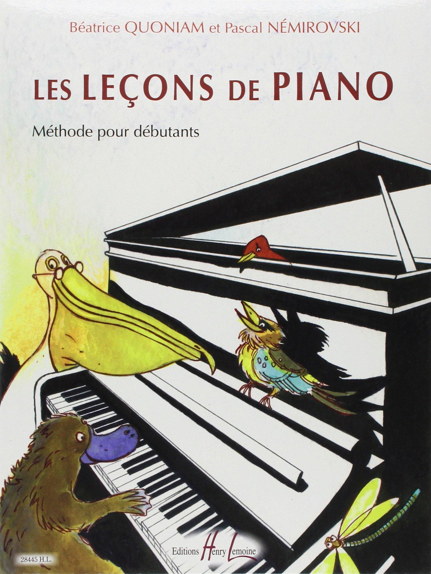 Extrêmement Amazon.fr - Les Leçons de piano - Béatrice Quoniam, Pascal  DV03