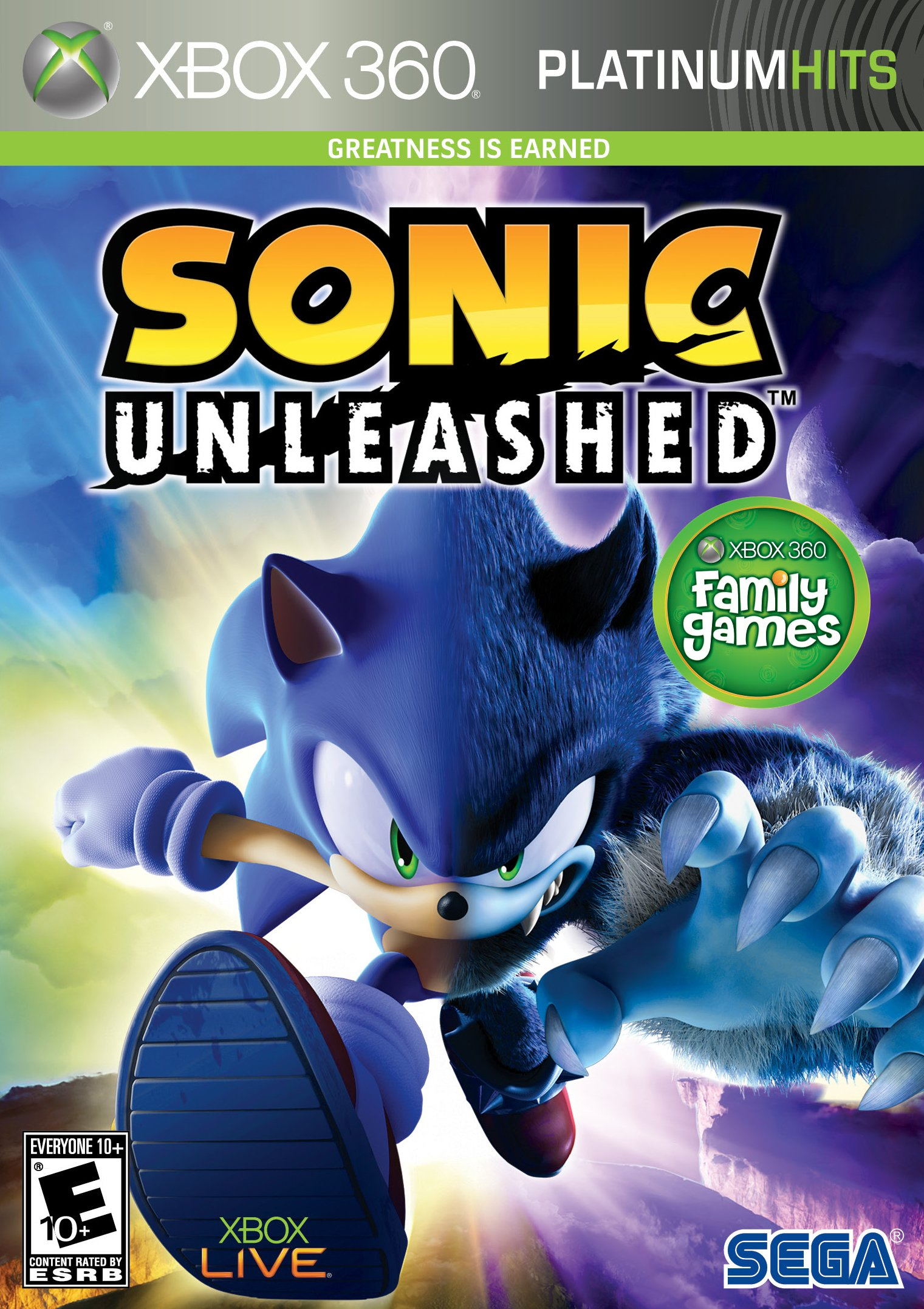 Sonic Unleashed (Platinum Hits) - Xbox 360