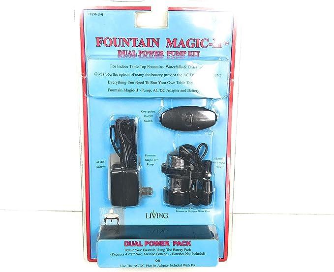 Amazon Com Fountain Magic Iii Standard Power Battery Operated Dual Power Pump Kit Garden Outdoor