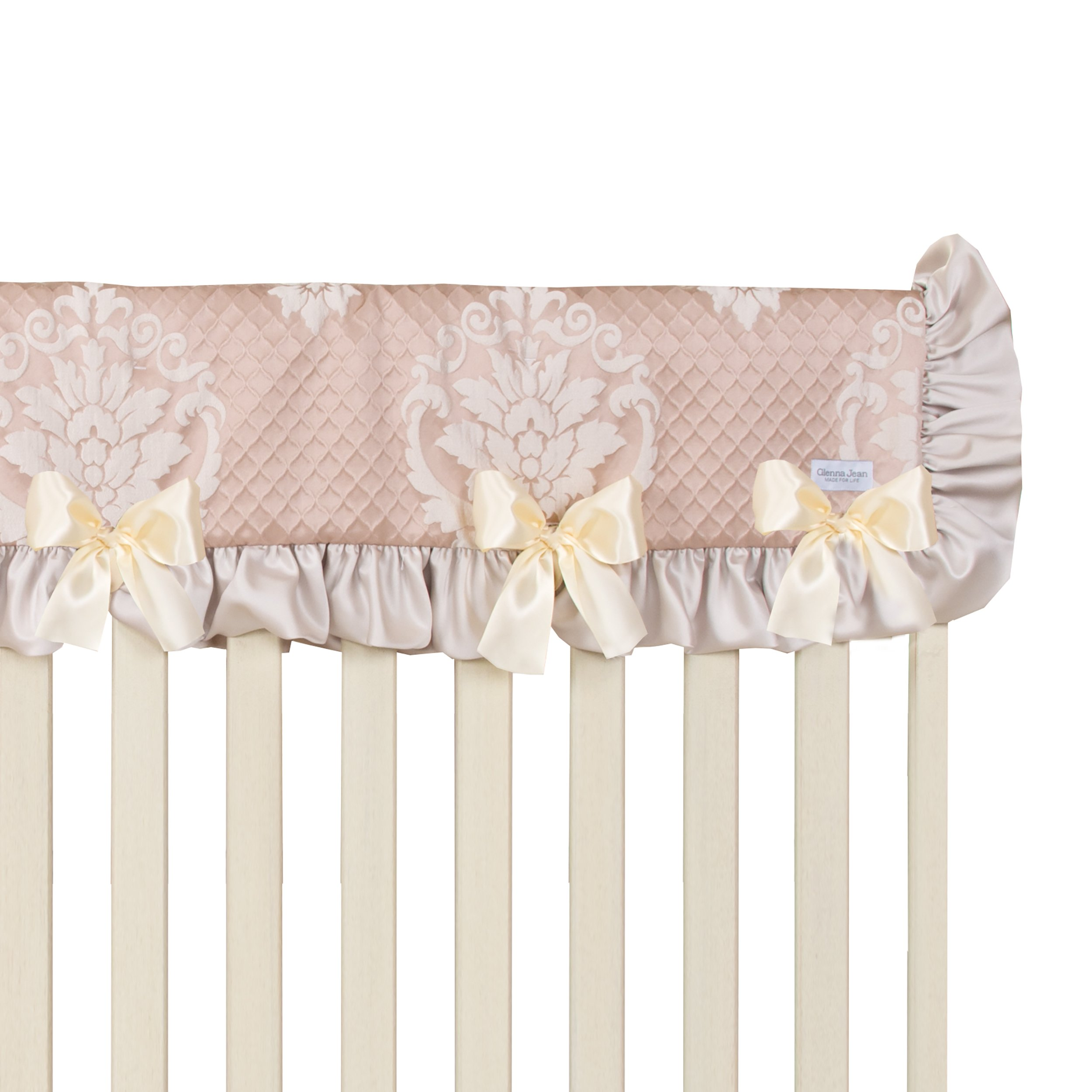 Glenna Jean Angelica Convertible Crib Rail Protecto, Pink, Long, one Size by Glenna Jean