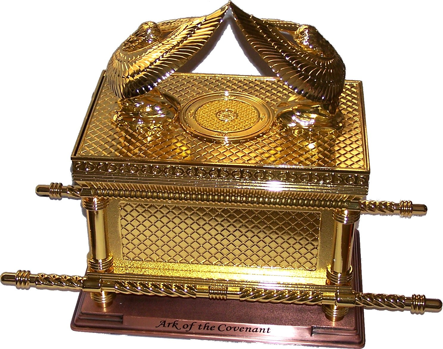The Ark of The Covenant Gold Plated with Ark Contents Replica Aaron Rod, Tablets and Manna – Extra Large